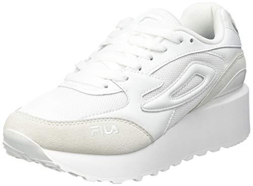 FILA Doroga Zeppa wmn zapatilla Mujer, blanco (White/Gray Violet), 39 EU