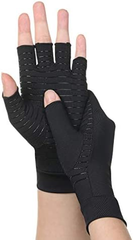 FALETO Copper Arthritis Compression Gloves Best Copper Infused Glove for Women and Men Rehabilitation product image