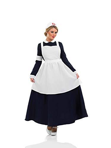 Fun Shack- Costume Disfraz, Color enfermera victoriana, mujeres: 8-10 (FN3283S)
