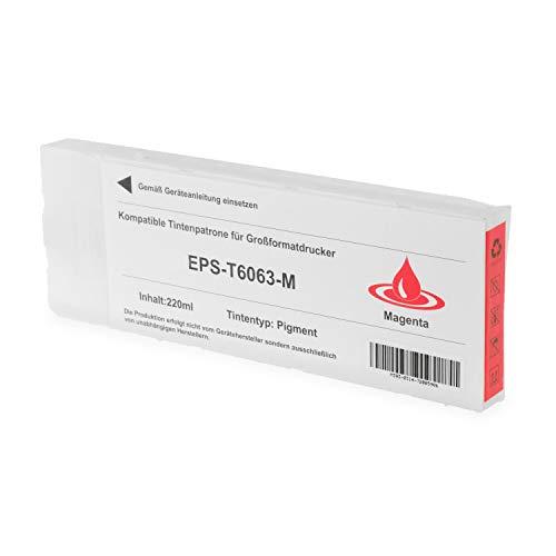 Tintenpatrone kompatibel für Epson T6063 C13T606300 Stylus Pro 4800 4880 - Magenta 220ml
