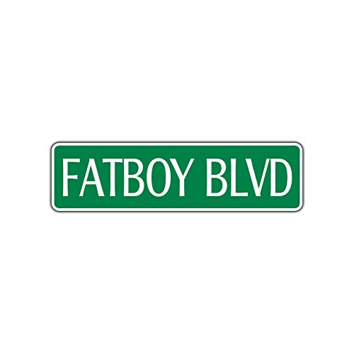 Yilooom Fatboy BLVD Harley Metal Novelty Street Sign Garage Bike Shop Yard Decor Gift