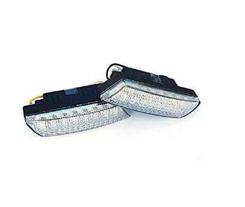 BLUETECH PLUS Ultra kleine universale LED Tagfahrleuchten/Tagfahrlichter mit 16 SMD LEDs R87 Modul E-Prüfzeichen & Dimmfunktion