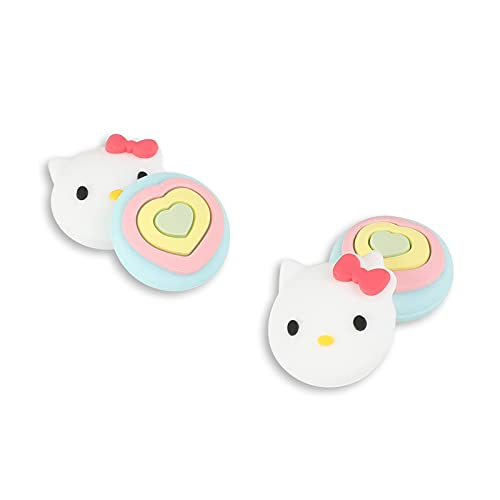 PERFECTSIGHT Cute Thumb Grip Caps 4PCS Compatible with Nintendo Switch & Switch Lite,Soft Silicone Cover for Joy-Con Controller (Kitty)