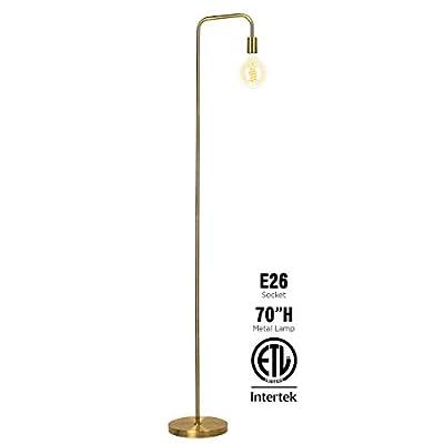 O?Bright Industrial Floor Lamp for Living Room, 100% Metal Lamp, UL Certified E26 Socket, Minimalist Design for Decorative Lighting, Stand Lamp for Bedroom/Office/Dorm, ETL Listed
