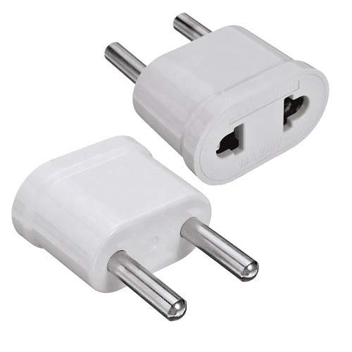Adaptador de Enchufe de EEUU a Enchufe Europeo Blanco
