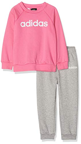 adidas Kinder Linear Jogger Fleece Sportanzug, Sesopk/White, 104