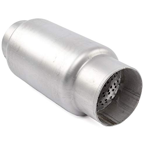 DC Sports EX-5010 Round Stainless Muffler with Slant Cut Tip
