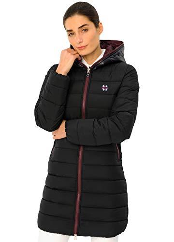 SPOOKS Damen Mantel, Leichter Damenmantel mit Kapuze, Jacke Herbstjacke - Carla Coat Navy/Bordeaux m