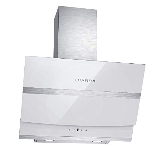 CIARRA CBCB6736N Touch Control Angled Cooker Hood 60cm Glass 750 m³/h...