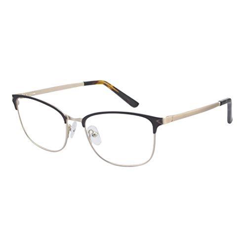 ProEyes Antlia, Gafas de lectura multifocales progresivas con bisagras de resorte, lente superior sin aumento, lente de resina anti luz azul (Brown, 3.00 x)