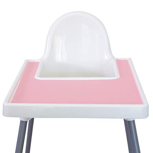 Mango Co. IKEA Hochstuhl-Platzset für Antilop Baby-Hochstuhl – BPA-frei, spülmaschinenfest, Silikon-Platzsets – Fingerfood Tischset für Kleinkinder und Baby (Ballerina Pink)