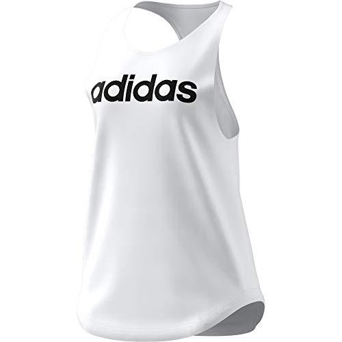 adidas W Lin TK Camiseta, Blanco/Negro, XS para Mujer