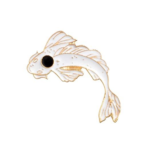 Lucky Fish Koi Pin esmalte blanco rosa negro Broches regalo jeans ropa Cap bolsa pin insignia botón solapa pin regalo para niños