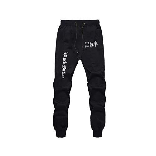 Mnijiein Jogger Pantalones Deportivos Anime Black Butler Cosplay Disfraz Largos Sweat Pants Trousers con Bolsillos Negro S
