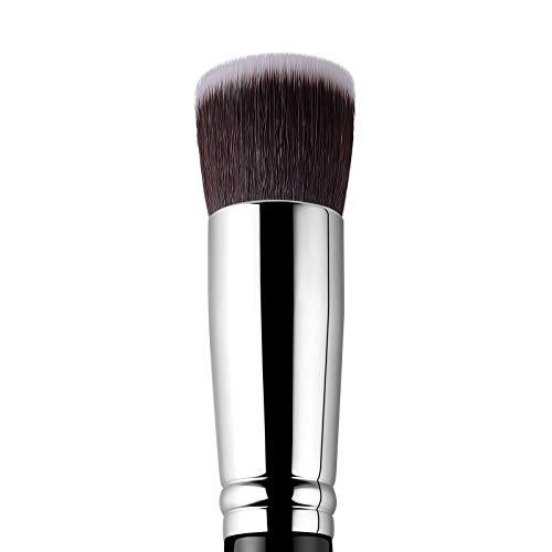 EIGSHOW Pinceau de maquillage Kabuki à pointe plate pour fond de teint, fond de teint liquide, crème - Fond de teint, anti-cernes, brosse visage douce (F614)