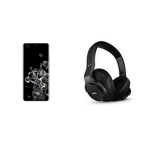 Samsung Galaxy S20 Ultra 5G Factory Unlocked New Android Cell Phone US Version, 128GB, Cosmic Gray & N700NC M2 Over-Ear Foldable Wireless Headphones, Black
