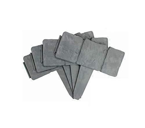 XIAOY Borde para césped con aspecto de piedra, borde de plástico, resistente al agua, resistente a la corrosión, de plástico, verduras, valla de hierba, gris