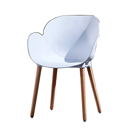 SLY Dineren Chair Retro Kitchen Stoel, Terras Office Home Use Rugleuning Slaapkamer Slaapzaal Bureau Dressing Table Dining Chair (Color : White, Size : 1 put)