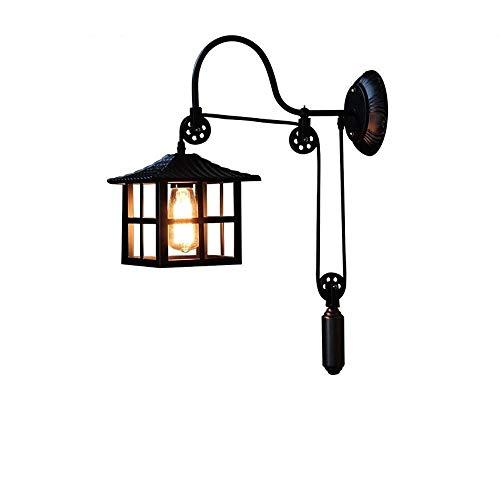 CNCDRS Elevación de la Pared del Accesorio de iluminación de Libre Montaje en la Pared de la lámpara Loft Industrial Retro Forjado Antiguo Soporte de Hierro Lámpara Antigua clásica Queroseno Decorado