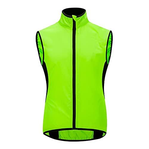 XuuSHA Chaleco de seguridad reflectante de alta visibilid Chaquetas de manga larga de manga larga reflectante para hombre Chalecos de seguridad para hombres mujeres (Color : Green Vest, tamaño : M)