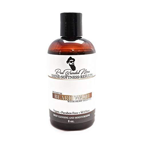 All Natural 100% - Hemp Beard Wash (8 oz, Natural Shampoo and Conditioner) | Real Bearded Men