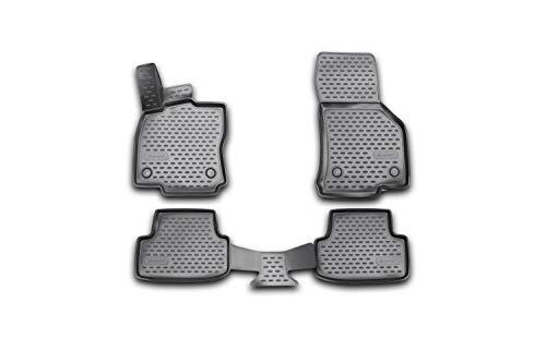 Element Exp.NLC.3D.51.44.210k Tappetini in Gomma Premium Antiscivolo su Misura per VW MK7 VII/Golf Mk8 VIII-Anno: 14-20, Nera, Personalizzati