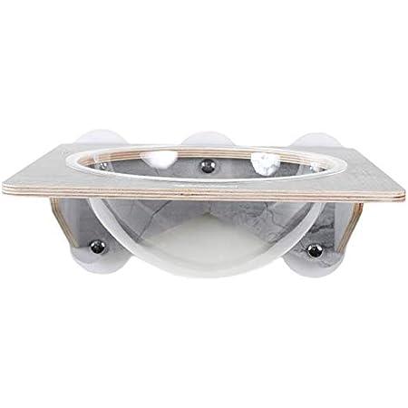 キャットタワー 猫窑 吸盤キャット宇宙船 壁付け式 木登りタワー カプセル 透明的 360°視野 木製 アクリル製ベッド 高級感 猫用品 ボウルの型 カプセル型 インテリア 安全素材 おしゃれ (宇宙船)