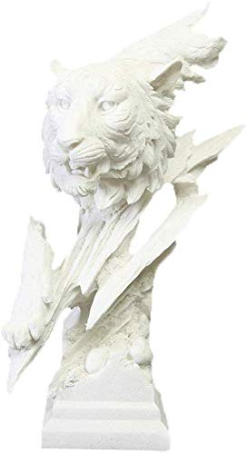 LULUDP-Decoración La resina blanca creativo escultura animal de leopardo nórdica avatar escultura abstracta hecha a mano Estatua del Ministerio del Interior Room Decor Ebanisteria adorna arte decorati