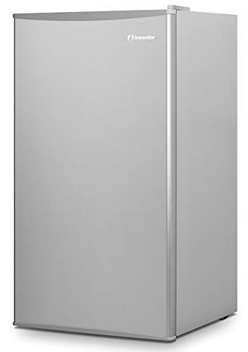 Inventor Nevera Compacta A++ con Compresor, 93 litros de capacidad, Silenciosa e ideal para hoteles, estudiantes, oficinas y pequeños hogares, Color plata
