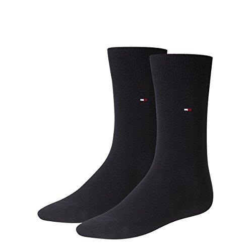 Tommy Hilfiger 4 pairs Men's Classic Socks Gr. 39-49 Business sneaker socks, Farben:322 - dark navy, Größe Bekleidung:M
