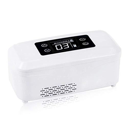 OutingStarcase La insulina mini Home Caja refrigerada portátil de refrigeración del coche recargable del termostato inteligente Medicina pequeña nevera y refrigerador de la insulina (20.9X9X9.9Cm (8.2