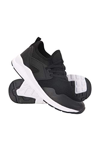 Mountain Warehouse Eclipse Machine Washable Trainers -Casual Sneakers Black Kids Shoe Size 5 UK