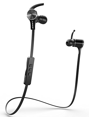 Bluetooth Earbuds, Liger MH770 Wireless Stereo Bluetooth 4.1 Sport Headphone with Magnetic Tips, In-Ear Noise Cancelling and Sweat Proof Earphones, Hands Free Calling and Mic