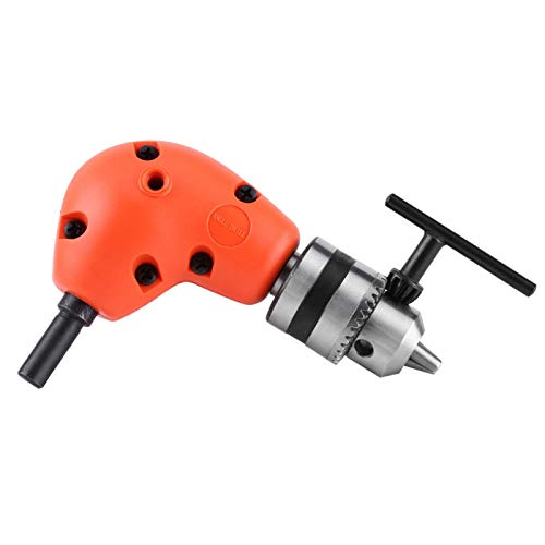 Right Angle Portable Extension Adapter Round Shank 9.5mm with Handle for Electric Drills