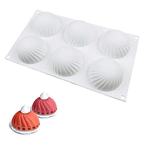 3D Silikon-Formen Geräte für die Kuchenverzierung,Mousse-Kuchenform Silikon backformen für Kuchen,Spiralkuchen Besondere Backform für Küche Französisch Dessert Schokolade