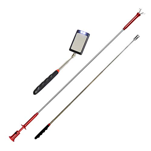 VViViD Telescoping Stainless-Steel Reaching Tools (3-Tool Combo Pack)
