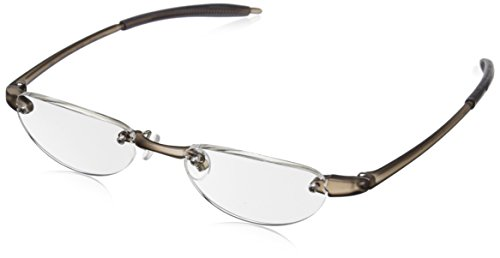 Visualites Vis2 VIS2SMO15 Rimless Reading Glasses, Smoke, 48 mm