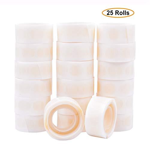 GCOA Colla Palloncini 2500 Pezzi (25 Rotoli) Double Sided Dots of Glue Craft Nastro Adesivo Punto Rimovibile Colla Non liquida per Feste, Matrimoni, Palloncini Decorazione