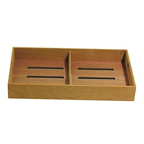 Sigara Brand Solid Spanish Cedar Cigar Tray with One Adjustable Divider, Fits Large Humidor 12.0'x7.0'x1.75'