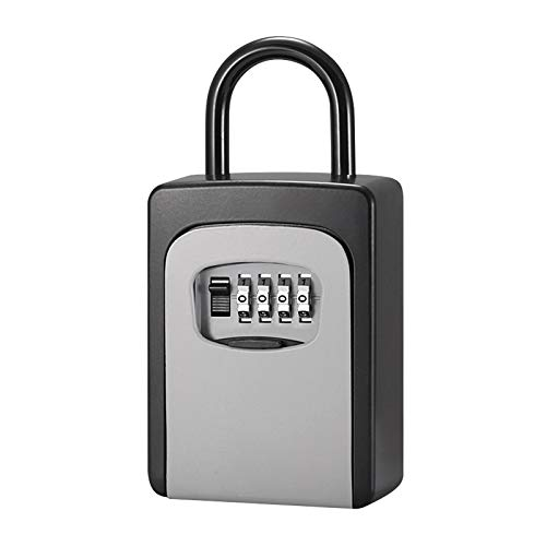 Sichere Schlüsselbox mit Staubschutzhülle Keine 4-stellige Kombinationsinstallation erforderlich Kennwortschlüssel-Aufbewahrungsbox Vorhängeschlossbox mit Schlüssel mit Code