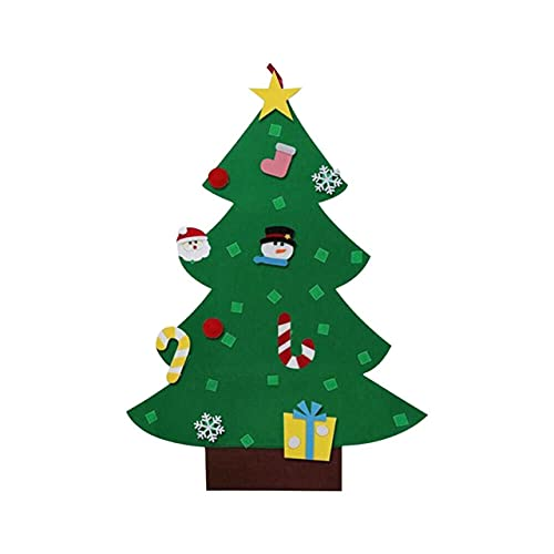 Easyeeasy Fieltro decoración del árbol de Navidad colgante para niños hecho a mano Diy estéreo árbol de Navidad adornos de Navidad