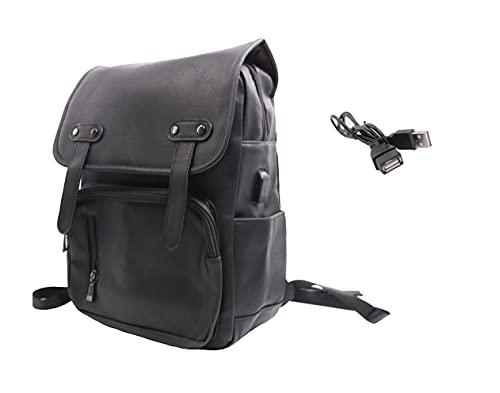 MH Mochila polipiel,mochila portatil,gran capacidad,Con Puerto USB Mochila Antirrobo del Negocio Trabajo Diario Viaje Escolares. (Marron)