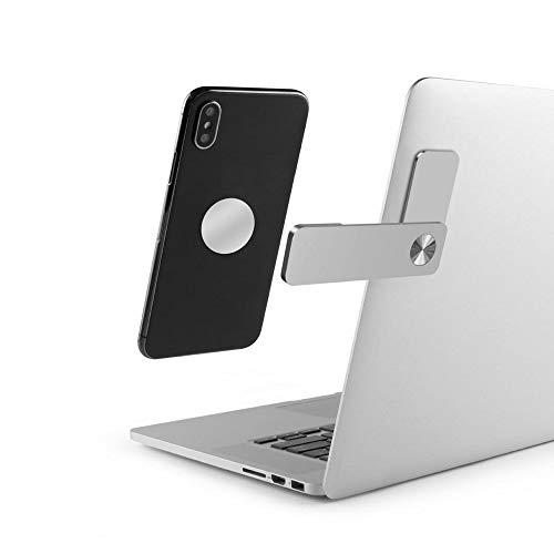 VARUTA - Soporte móvil 2.0, para Ordenador portátil, PC y Pantalla, Soporte y Accesorio para móvil, Aluminio, Plateado.