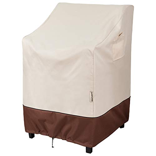 Bestalent Stackable Patio Chair Cover Waterproof for Outdoor Furniture Fits up to 28 W x 35 D x 47 H inches