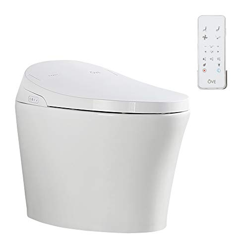 Ove Decors Lena Bidet Toilet Built-in Tankless Elongated, Automatic Flushing, Heated Seat, Soft Close, ECO Mode with Remote Control