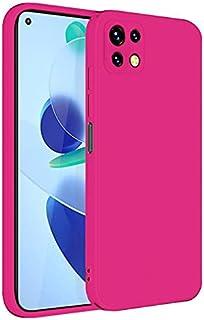 جراب خلفي سيليكون ناعم لهاتف شاومي مي 11 لايت فوشيا - Back silicone Case for Xiaomi Mi 11 lite Fuchsia