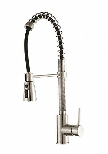 Luxice Commercial Widespread Single Handle Deck Mount Tub Bathtub Bathroom Vessel Sink Faucet, Ceramic Valve Mixer Tap Brushed Nickel