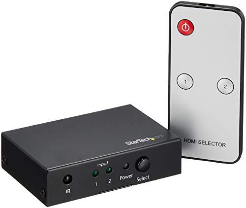 StarTech.com 2 Port HDMI Switch - 4K 60Hz - Supports HDCP - IR - HDMI...