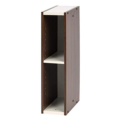 Marca Amazon - Movian Librería modular con 2 estantes en MDF, Marrón, 15 x 29 x 60 cm
