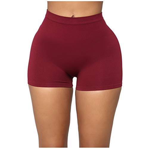 Best Bargain Workout Shorts for Women – Solid Color Seamless Sport Shorts All Day Comfort High Waist Yoga Short – Stretchy Running Athletic Non See-Through Yoga Shorts Short Leggings